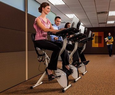 exercise bike desk office