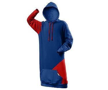 extra tall hoodie blue red