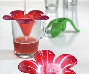 flower tea strainer