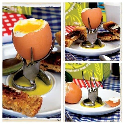 fork egg cup