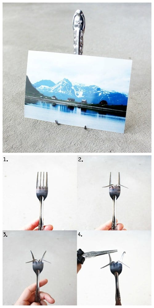 fork photo stand