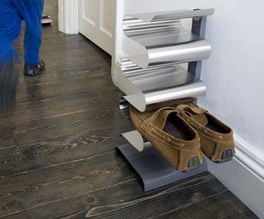 free-standing shoe rack hallway