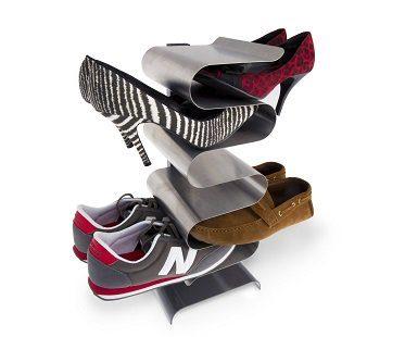 free-standing shoe rack heels