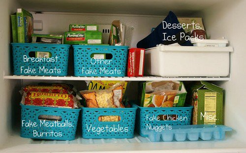 freezer organizer baskets