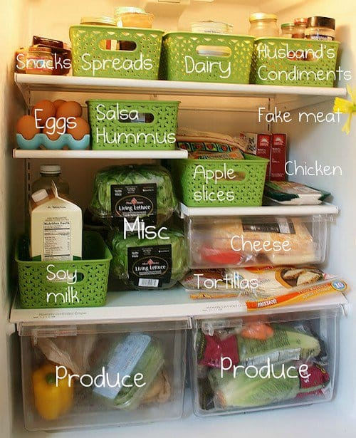 fridge organizer baskets