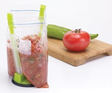 hands-free food bag holder