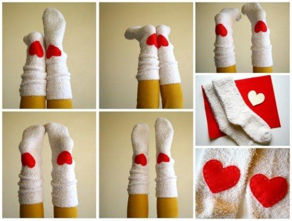 heart socks diy