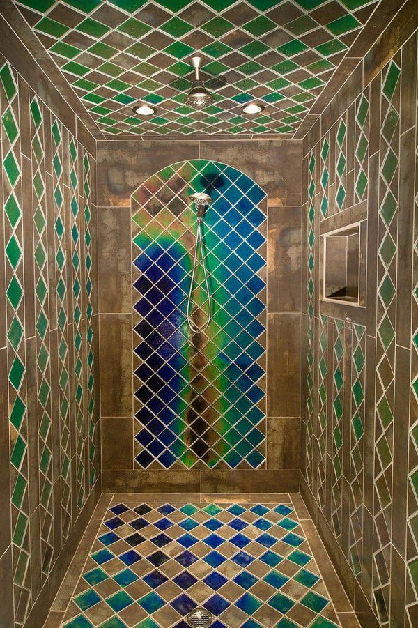 heat sensitive tile shower