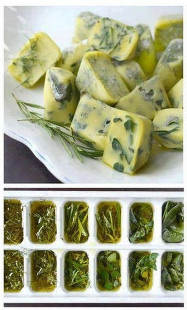 herbs ice cube trays