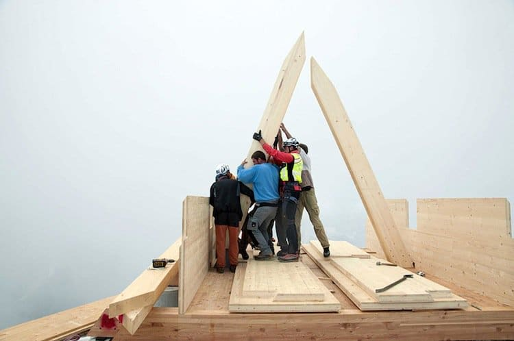 hut-building