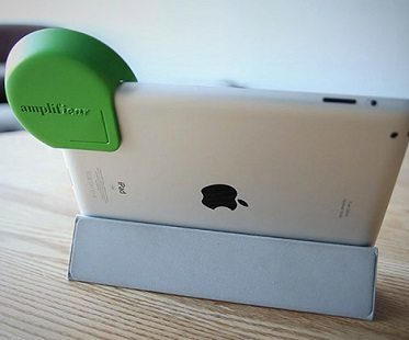iPad amplifier green