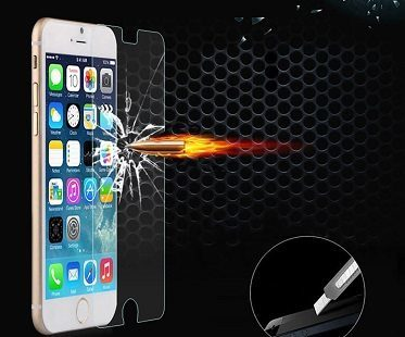 iPhone screen protector bullet