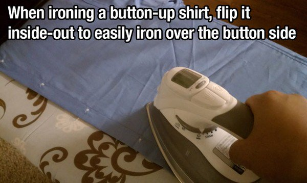ironing buttons