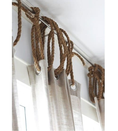 jute rope rustic nautical window dressing