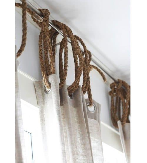 jute rope rustic nautical window dressing