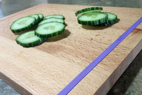 keep cutting board from slipping rubber bands