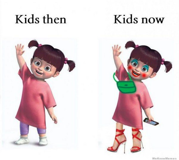 kids then now