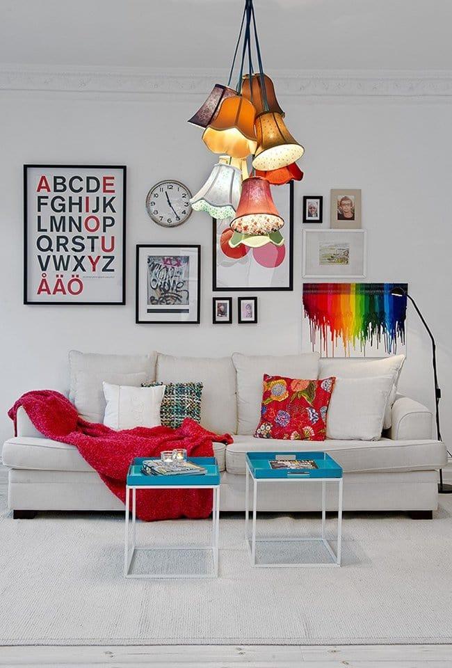 lamp-shade-chandelier