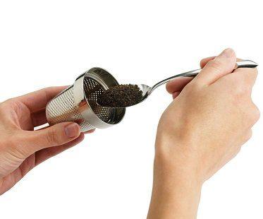 leaf tea infuser inside