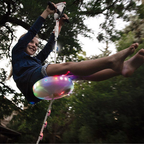 light up zipline
