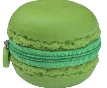 macaroon coin purse green