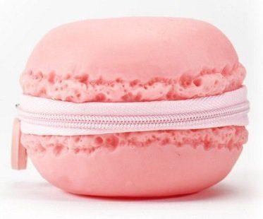 macaroon coin purse pink