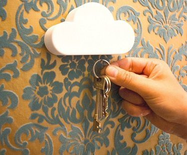 magnetic cloud key holder home