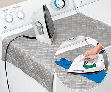 magnetic ironing mat folding