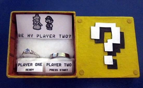 mario wedding ring - Nerd Wedding Rings