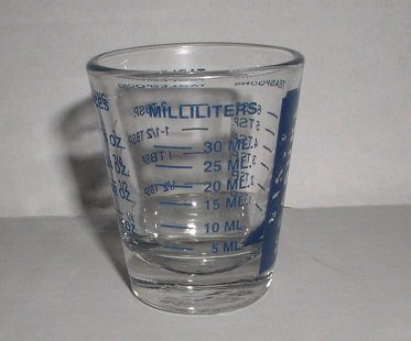measuring cup shot glass mm