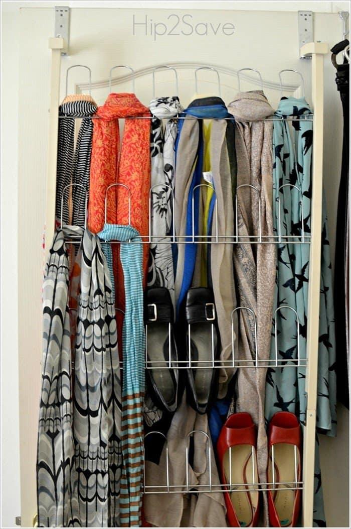 metal shoe organizer scarf