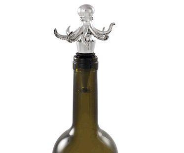 octopus wine stopper