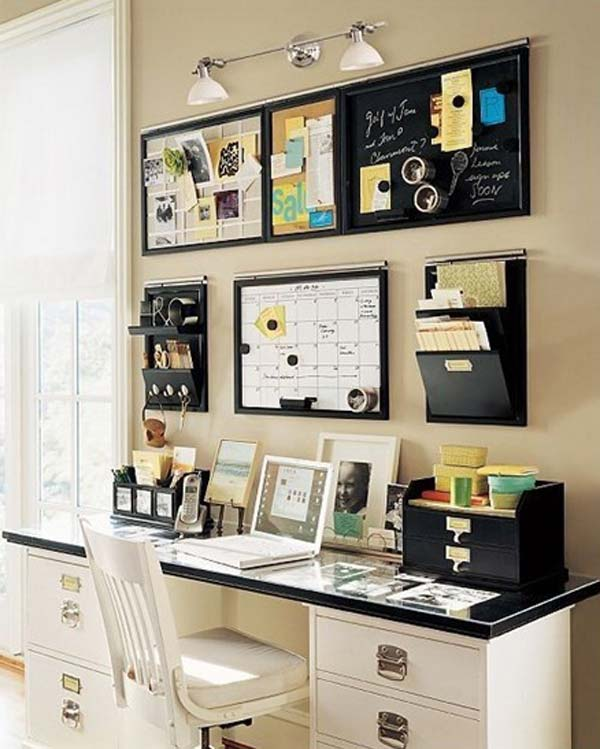 15 awesome diy ways to organize your office part 1 - Pictures of organized office desks ...