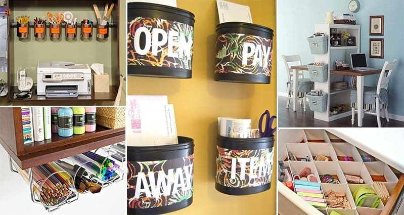 15 awesome diy ways to organize your office part 1 for Office organization tips and ideas