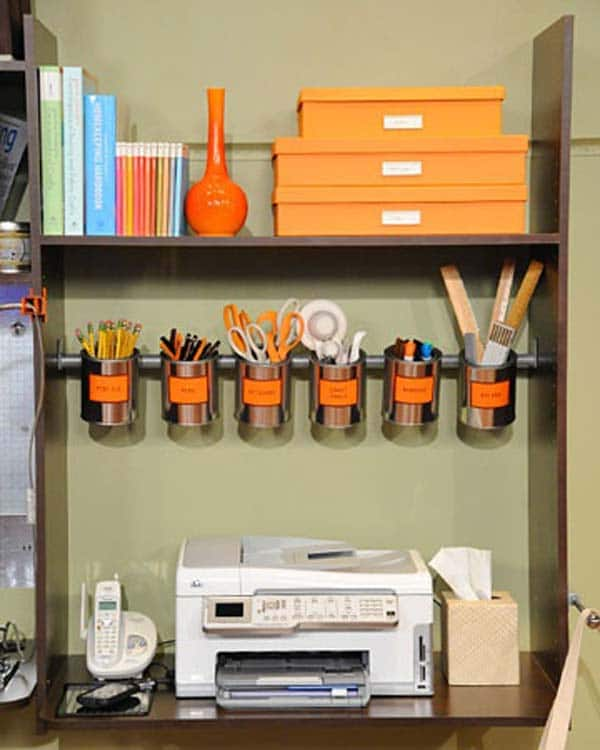 15 awesome diy ways to organize your office part 1 awesome