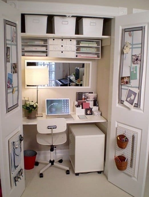 16 awesome diy ways to organize your office part 2 for Small office area