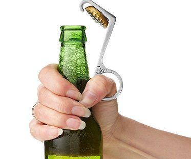 one handed bottle opener beer