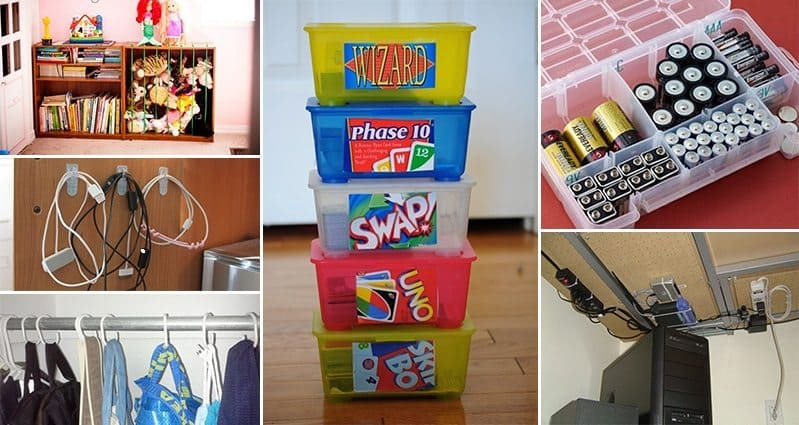 17 Organization Hacks For Your Home