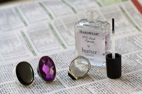 paint nail varnish inside ring