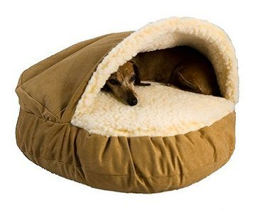 pet cave bed brown