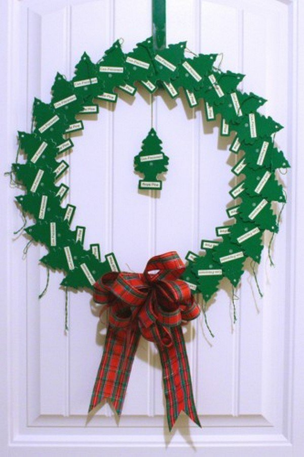 pine air freshener wreath