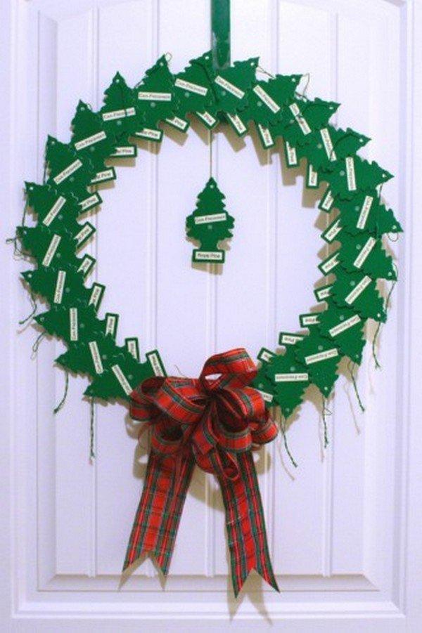 pine air freshener wreath