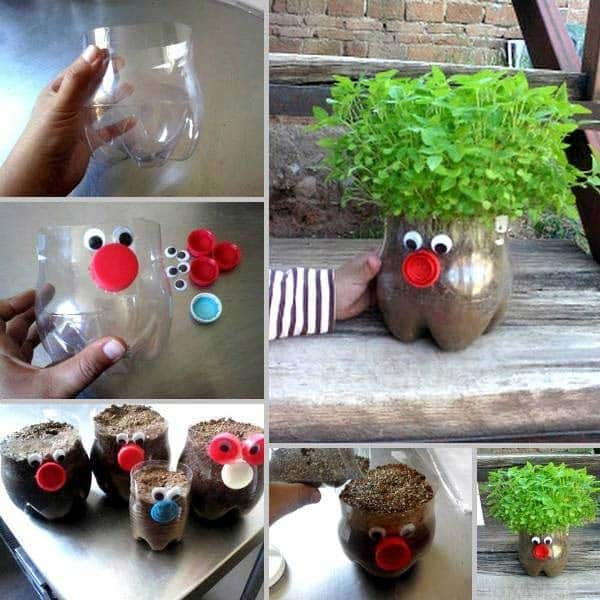 plastic-bottle-adorable-planters