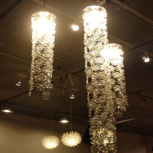 plastic-bottle-chandeliers