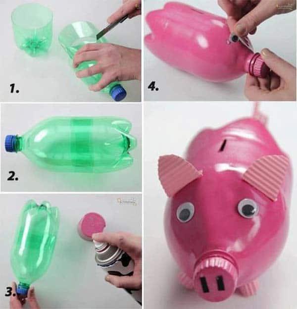 plastic-bottle-piggy-bank