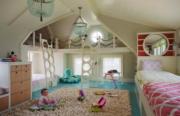 7 Inspiring Kid Room Color Options For Your Little Ones: 19 Amazing Over The Top Playrooms For Kids