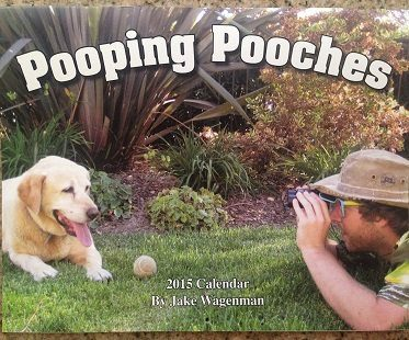 pooping dogs calendar cover
