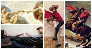 recreate classic paintings