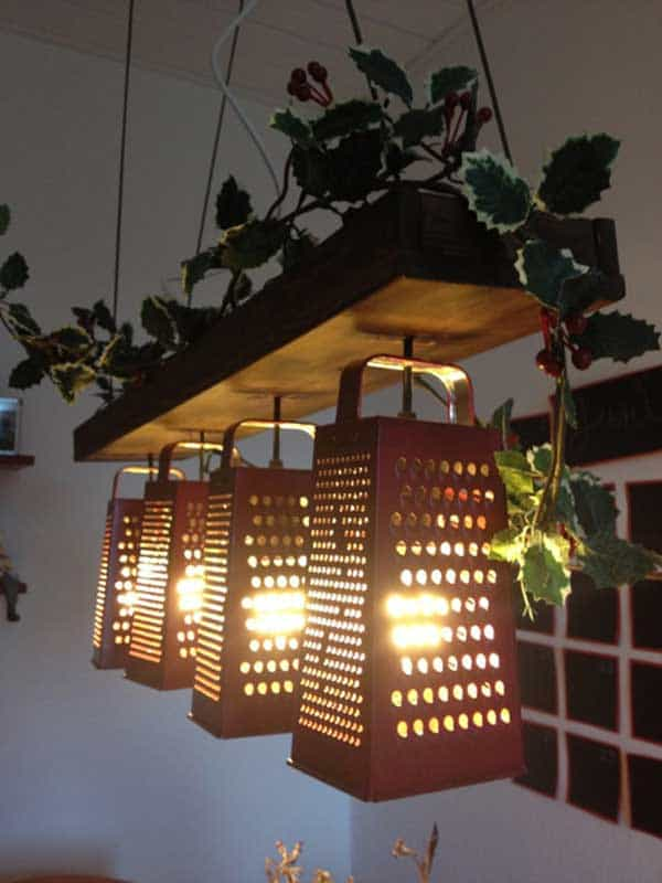 recycled grater lamps