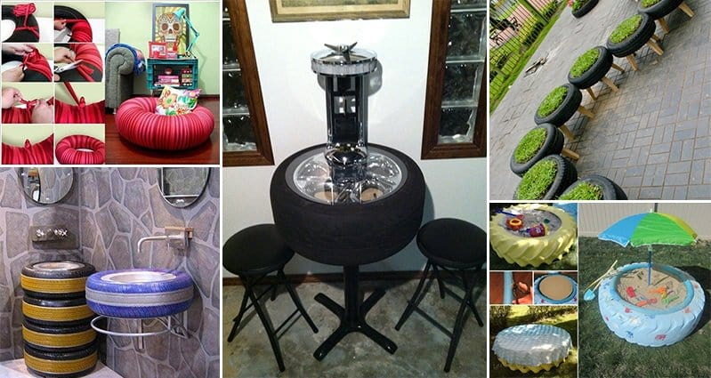 16 creative and amazing ways to reuse old tires - Diy projects using old tires ...